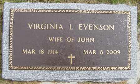 EVENSON, VIRGINIA L - Lincoln County, South Dakota   VIRGINIA L EVENSON - South Dakota Gravestone Photos