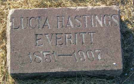 HASTINGS EVERITT, LUCIA - Lincoln County, South Dakota | LUCIA HASTINGS EVERITT - South Dakota Gravestone Photos