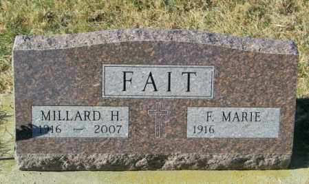 FAIT, F MARIE - Lincoln County, South Dakota   F MARIE FAIT - South Dakota Gravestone Photos
