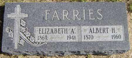FARRIES, ALBERT H - Lincoln County, South Dakota | ALBERT H FARRIES - South Dakota Gravestone Photos