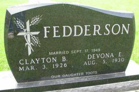 FEDDERSON, CLAYTON B. - Lincoln County, South Dakota | CLAYTON B. FEDDERSON - South Dakota Gravestone Photos