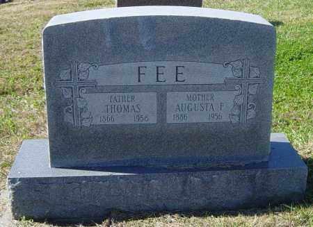 FEE, AUGUSTA F - Lincoln County, South Dakota   AUGUSTA F FEE - South Dakota Gravestone Photos