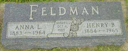 FELDMAN, ANNA L - Lincoln County, South Dakota | ANNA L FELDMAN - South Dakota Gravestone Photos