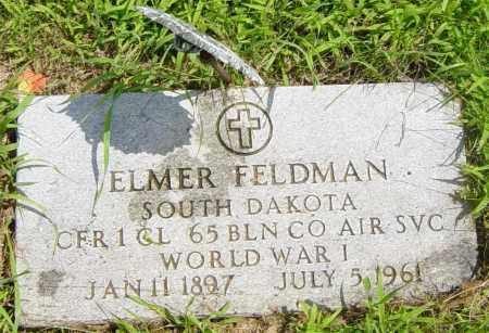 FELDMAN, ELMER - Lincoln County, South Dakota   ELMER FELDMAN - South Dakota Gravestone Photos