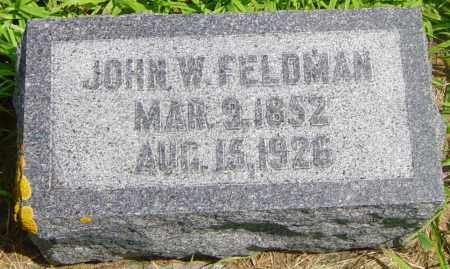 FELDMAN, JOHN W - Lincoln County, South Dakota | JOHN W FELDMAN - South Dakota Gravestone Photos