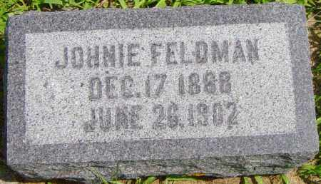 FELDMAN, JOHNIE - Lincoln County, South Dakota   JOHNIE FELDMAN - South Dakota Gravestone Photos