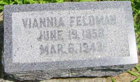 FELDMAN, VIANNIA - Lincoln County, South Dakota   VIANNIA FELDMAN - South Dakota Gravestone Photos