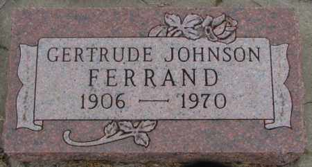 JOHNSON FERRAND, GERTRUDE - Lincoln County, South Dakota | GERTRUDE JOHNSON FERRAND - South Dakota Gravestone Photos