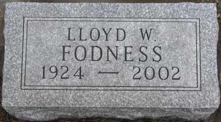 FODNESS, LLOYD W. - Lincoln County, South Dakota | LLOYD W. FODNESS - South Dakota Gravestone Photos