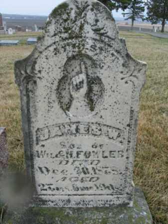 FOWLER, JAMES W. - Lincoln County, South Dakota   JAMES W. FOWLER - South Dakota Gravestone Photos