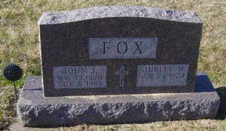 FOX, SHIRLEY W - Lincoln County, South Dakota | SHIRLEY W FOX - South Dakota Gravestone Photos