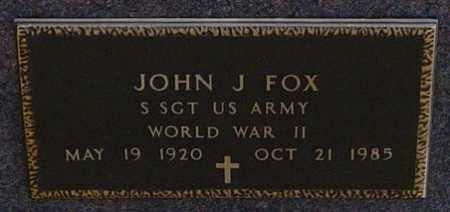 "FOX MILITARY, JOHN J ""JACK"" - Lincoln County, South Dakota   JOHN J ""JACK"" FOX MILITARY - South Dakota Gravestone Photos"