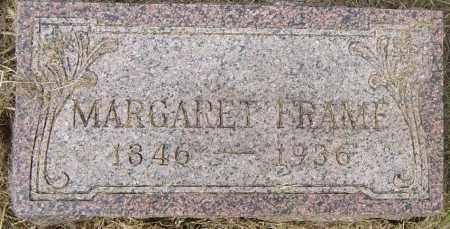 FRAME, MARGARET - Lincoln County, South Dakota | MARGARET FRAME - South Dakota Gravestone Photos