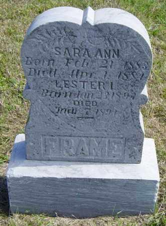 FRAME, SARA ANN - Lincoln County, South Dakota | SARA ANN FRAME - South Dakota Gravestone Photos