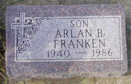 FRANKEN, ARLAN B - Lincoln County, South Dakota | ARLAN B FRANKEN - South Dakota Gravestone Photos