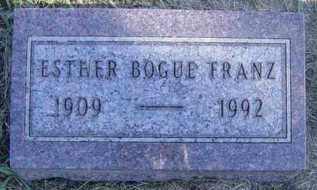 FRANZ, ESTHER - Lincoln County, South Dakota | ESTHER FRANZ - South Dakota Gravestone Photos