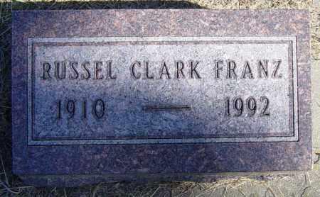 FRANZ, RUSSEL CLARK - Lincoln County, South Dakota | RUSSEL CLARK FRANZ - South Dakota Gravestone Photos