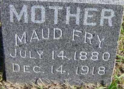 FRY, MAUD - Lincoln County, South Dakota | MAUD FRY - South Dakota Gravestone Photos