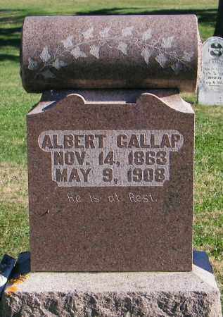 GALLAP, ALBERT - Lincoln County, South Dakota   ALBERT GALLAP - South Dakota Gravestone Photos