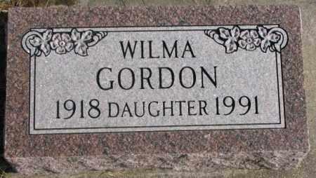 GORDON, WILMA - Lincoln County, South Dakota | WILMA GORDON - South Dakota Gravestone Photos