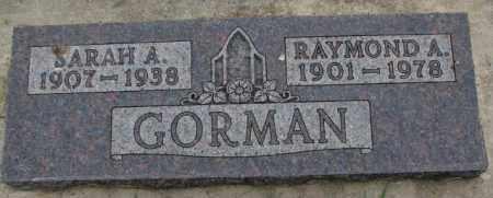 GORMAN, SARAH A. - Lincoln County, South Dakota | SARAH A. GORMAN - South Dakota Gravestone Photos