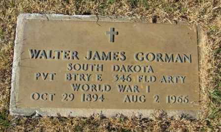 GORMAN, WALTER JAMES - Lincoln County, South Dakota | WALTER JAMES GORMAN - South Dakota Gravestone Photos