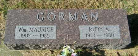 GORMAN, WM MAURICE - Lincoln County, South Dakota | WM MAURICE GORMAN - South Dakota Gravestone Photos