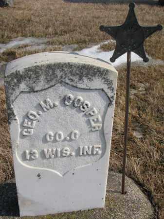COSPER, GEO. M.  (GAR) - Lincoln County, South Dakota   GEO. M.  (GAR) COSPER - South Dakota Gravestone Photos
