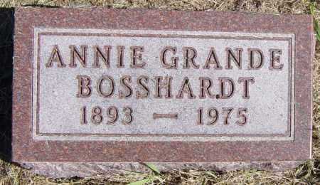 GRANDE BOSSHARDT, ANNIE - Lincoln County, South Dakota | ANNIE GRANDE BOSSHARDT - South Dakota Gravestone Photos