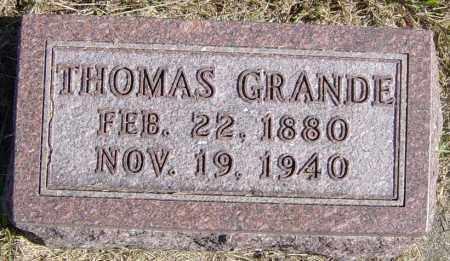 GRANDE, THOMAS - Lincoln County, South Dakota | THOMAS GRANDE - South Dakota Gravestone Photos