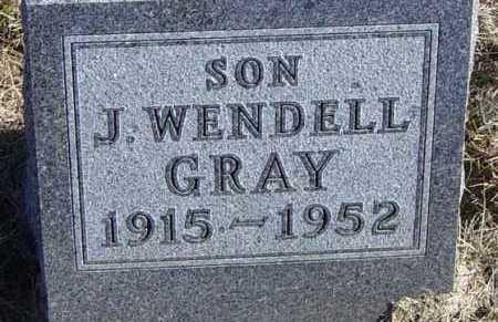 GRAY, J WENDELL - Lincoln County, South Dakota | J WENDELL GRAY - South Dakota Gravestone Photos