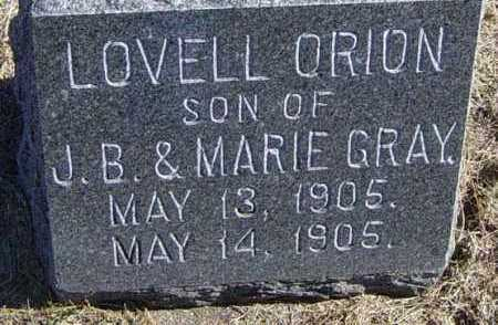 GRAY, LOVELL ORION - Lincoln County, South Dakota   LOVELL ORION GRAY - South Dakota Gravestone Photos