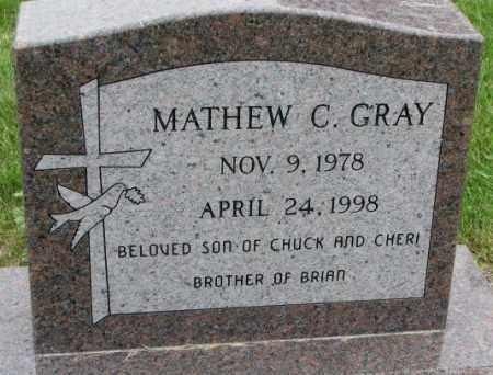 GRAY, MATHEW C. - Lincoln County, South Dakota | MATHEW C. GRAY - South Dakota Gravestone Photos