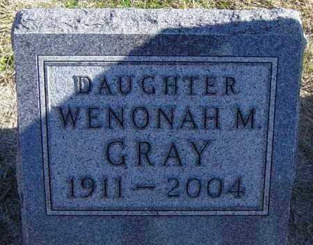 GRAY, WENONAH M - Lincoln County, South Dakota | WENONAH M GRAY - South Dakota Gravestone Photos