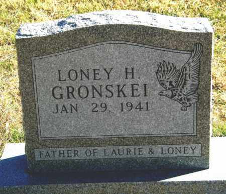 GRONSKEI, LONEY H. - Lincoln County, South Dakota | LONEY H. GRONSKEI - South Dakota Gravestone Photos