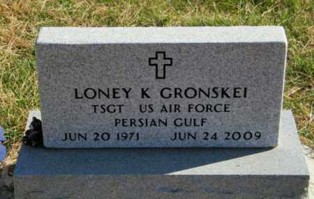 GRONSKEI, LONEY K - Lincoln County, South Dakota | LONEY K GRONSKEI - South Dakota Gravestone Photos
