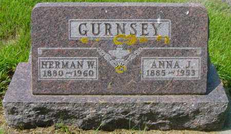 GURNSEY, ANNA J - Lincoln County, South Dakota | ANNA J GURNSEY - South Dakota Gravestone Photos