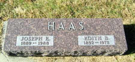 HAAS, EDITH B - Lincoln County, South Dakota   EDITH B HAAS - South Dakota Gravestone Photos