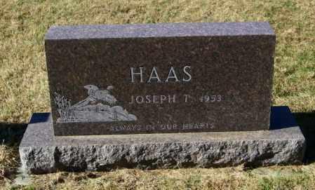 HAAS, JOSEPH T - Lincoln County, South Dakota | JOSEPH T HAAS - South Dakota Gravestone Photos
