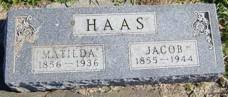 HAAS, MATILDA - Lincoln County, South Dakota | MATILDA HAAS - South Dakota Gravestone Photos