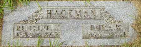 HACKMAN, EMMA W - Lincoln County, South Dakota | EMMA W HACKMAN - South Dakota Gravestone Photos