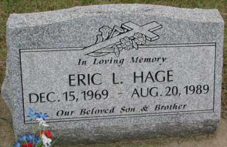 HAGE, ERIC L. - Lincoln County, South Dakota | ERIC L. HAGE - South Dakota Gravestone Photos