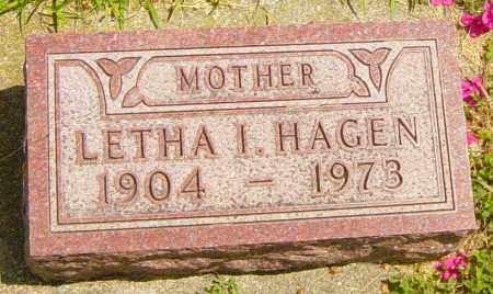HAGEN, LETHA I - Lincoln County, South Dakota | LETHA I HAGEN - South Dakota Gravestone Photos