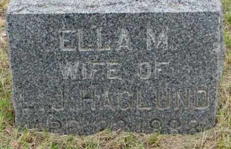 HAGLUND, ELLA M. - Lincoln County, South Dakota | ELLA M. HAGLUND - South Dakota Gravestone Photos