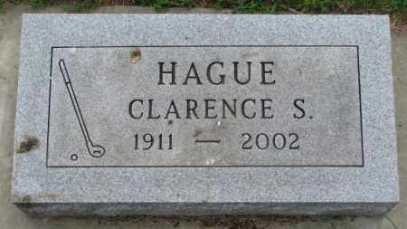 HAGUE, CLARENCE S. - Lincoln County, South Dakota | CLARENCE S. HAGUE - South Dakota Gravestone Photos