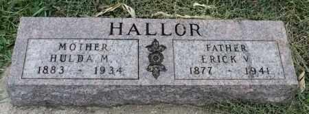 HALLOR, ERICK V - Lincoln County, South Dakota | ERICK V HALLOR - South Dakota Gravestone Photos