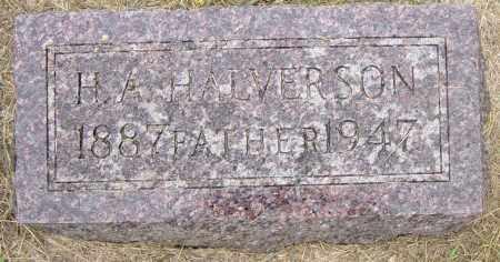 HALVORSON, H A - Lincoln County, South Dakota   H A HALVORSON - South Dakota Gravestone Photos