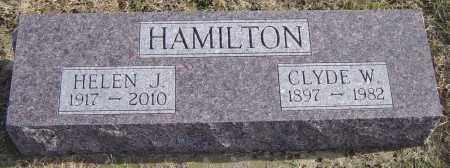 HAMILTON, CLYDE W - Lincoln County, South Dakota | CLYDE W HAMILTON - South Dakota Gravestone Photos