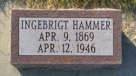 HAMMER, INGEBRIGT - Lincoln County, South Dakota | INGEBRIGT HAMMER - South Dakota Gravestone Photos