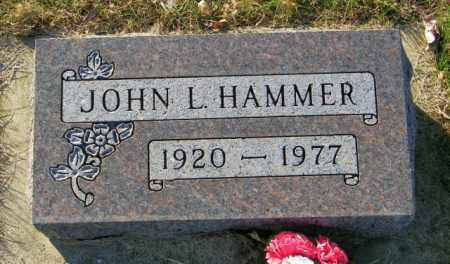 HAMMER, JOHN L. - Lincoln County, South Dakota | JOHN L. HAMMER - South Dakota Gravestone Photos
